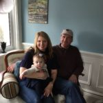 Owners Karin and Mark and Grandbaby Caitlin Ivy or Wee Rose Petal